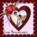 Anniversary Photo Frame Collage