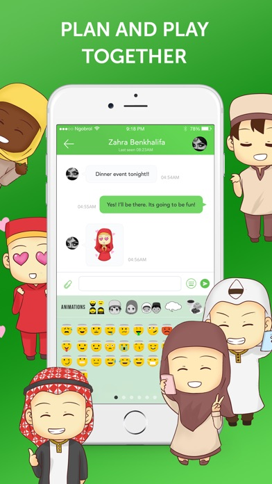 Muslim Emoji Messaging App screenshot 2