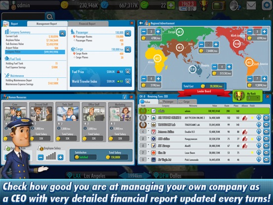 Screenshot #5 for AirTycoon Online 2.