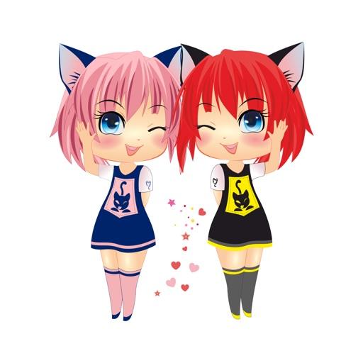 Sira & Mira - Manga Anime Emoji Sticker Keyboard images
