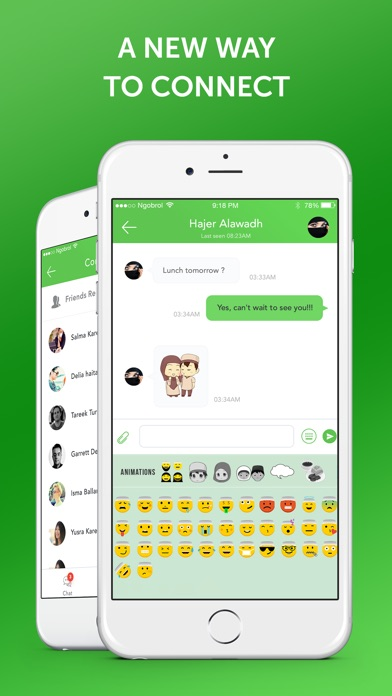 Muslim Emoji Messaging App screenshot 1
