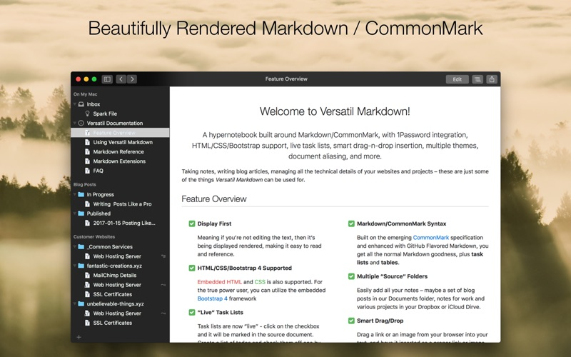 Versatil Markdown Screenshots