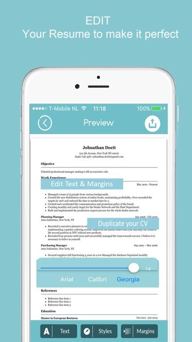 resume builder - cv designer app download