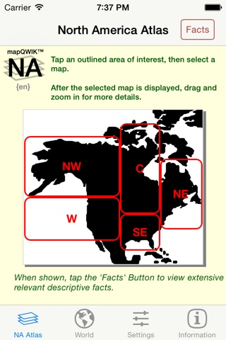 mapQWIK NA - North America Zoomable Atlas screenshot 1