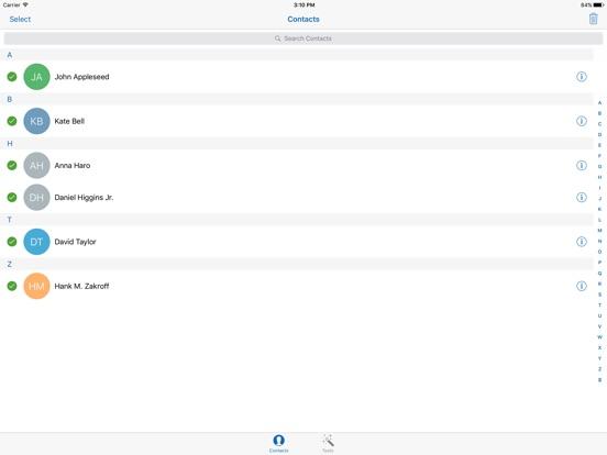 Delete Contacts + Duplicates Screenshots