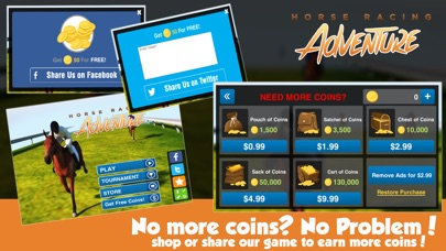 Horse Racing Adventure - Tournament and Betting