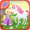 Princess And Pink horse Jigsaw Puzzles Games