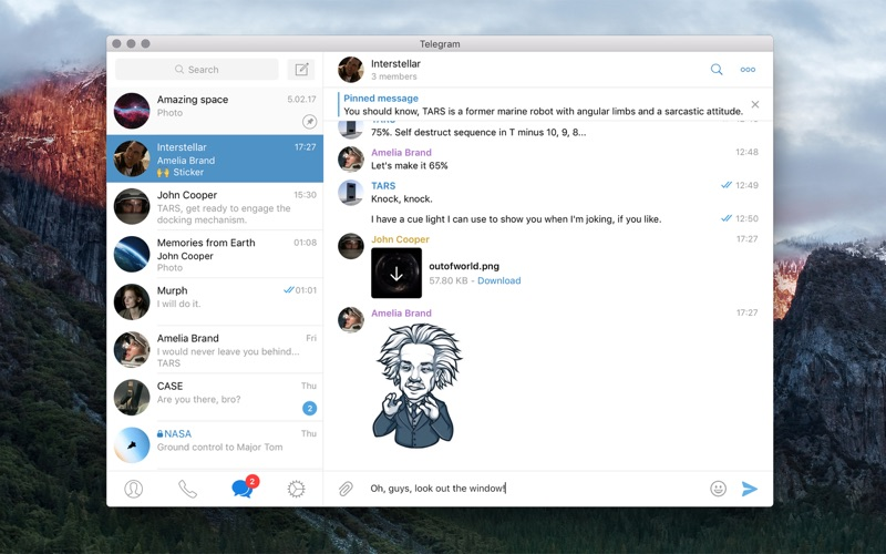 Mac社交通讯软件 Telegram for Mac