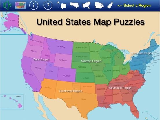 US States And Capitals Puzzle Match On The App Store - Us states and capitals map puzzle
