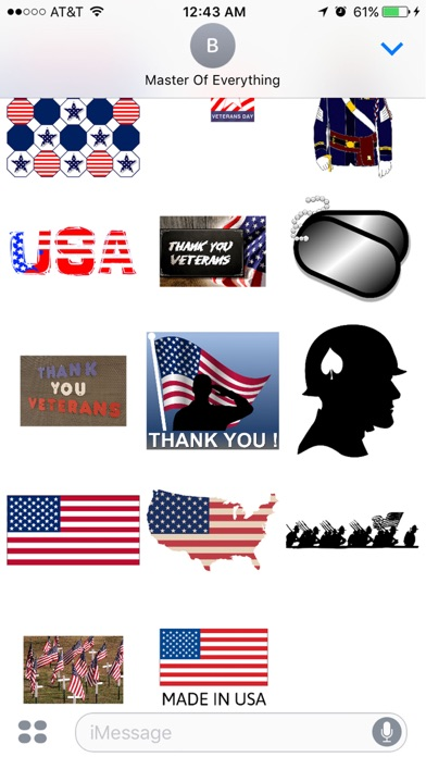 Veteran's Day StickersСкриншоты 1
