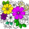 New Flower Coloring Book - Color and Play Music