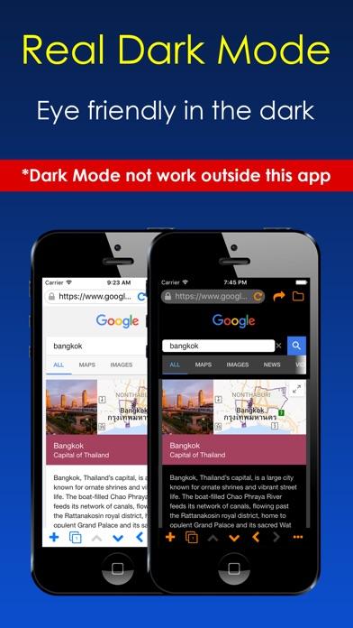Dark Night Browser Screenshot