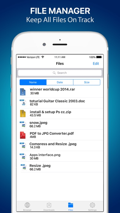 download Files Free - Private Browser, Music Video Manager apps 3