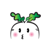 Fat Radish stickers by wenpei Wiki