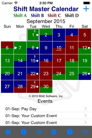 Shift Master Shift Calendar screenshot 2