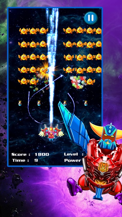 Screenshots of Space Attack: Chicken Shooter for iPhone