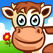 A farm animal jigsaw puzzle for kids & toddlers
