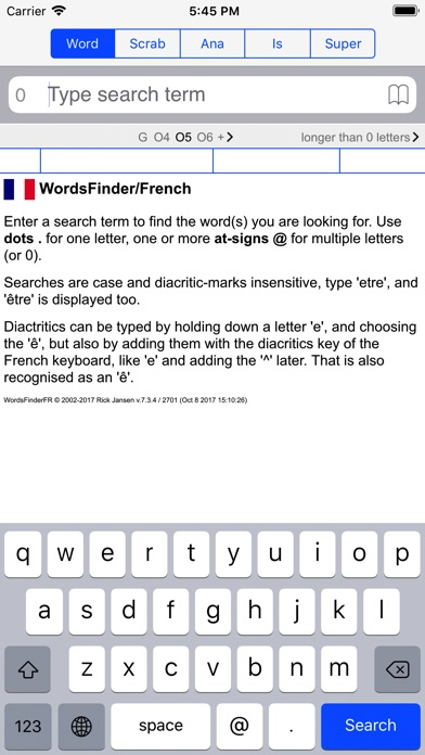 F Words Finder French PRO Скриншоты3
