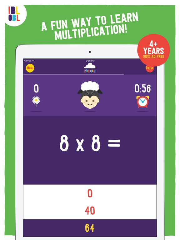 Multiplication with Ibbleobble Screenshots