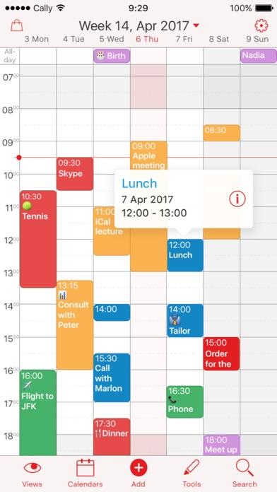 Week Calendar screenshot1