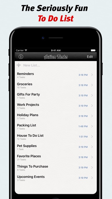 Action Tasks - To Do List Screenshots