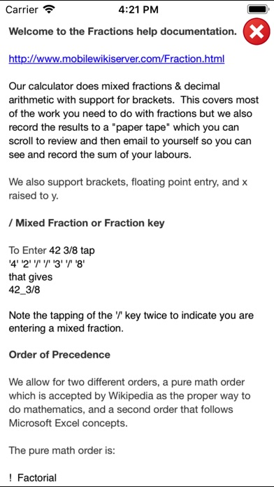 Fractions Calculator Lite截图2