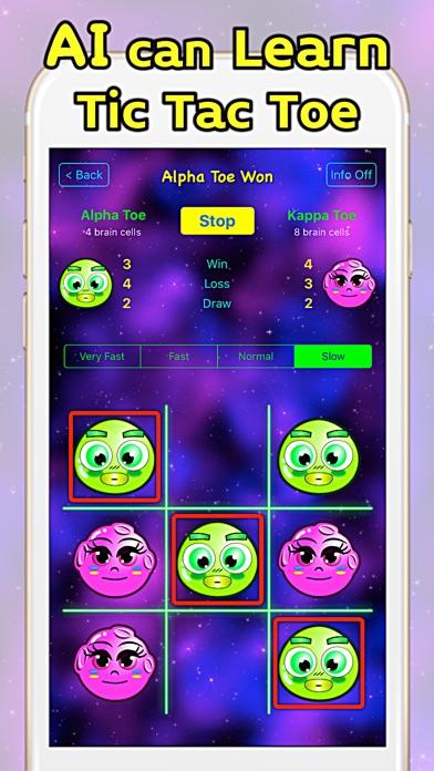AI Toe - AI Learns Tic Tac Toe Screenshots