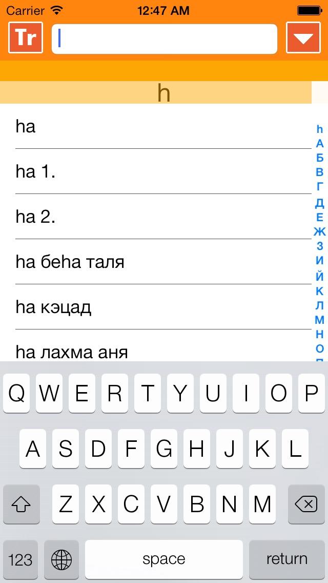 IRIS - mobile hebrew russian hebrew dictionary Screenshot 4