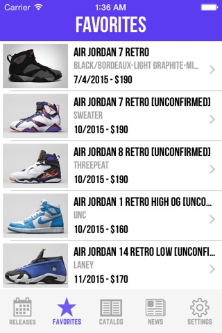 Sneaker Crush - Release Dates screenshot 3