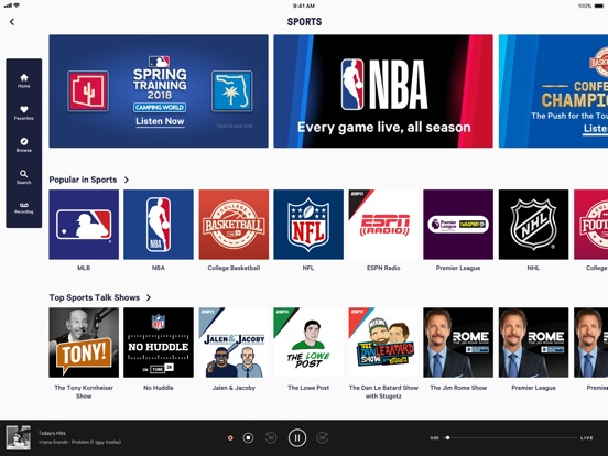 Screenshot #1 for TuneIn Pro - Radio & Sports