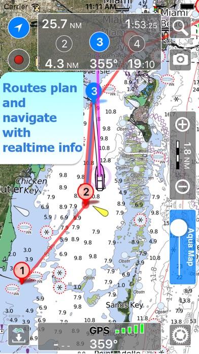 Screenshots for Aqua Map Germany, Nautical GPS