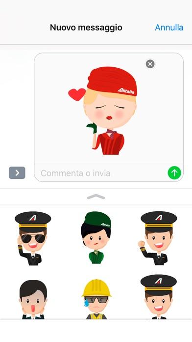 Screenshot of Alitalia Stickers2
