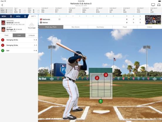 MLB At Bat Screenshots
