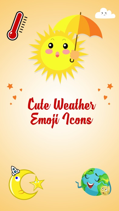 Animated Weather Stickers! screenshot 1