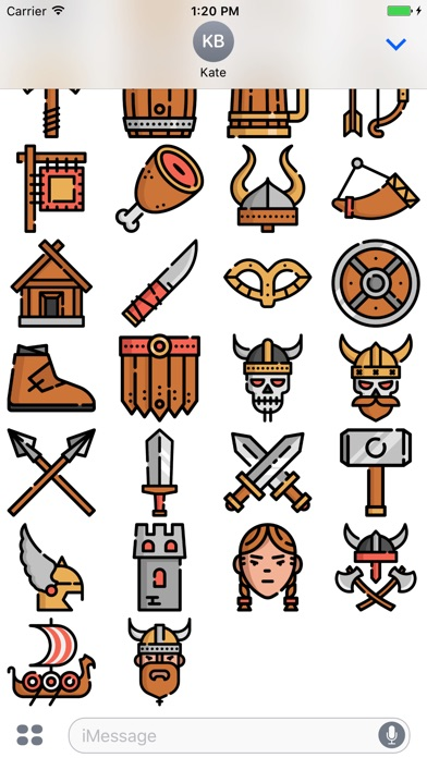 Screenshot for Vikings Stickers Emojis in Colombia App Store