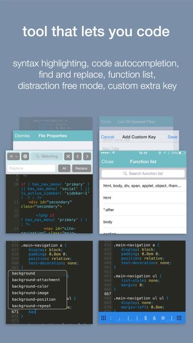 Koder Code Editor Скриншоты5