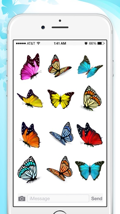 Butterfly Animated Stickers screenshot 2