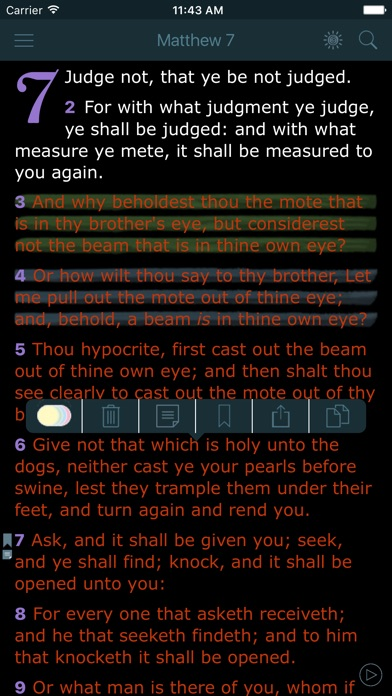 Screenshot for King James Bible with Audio in United States App Store