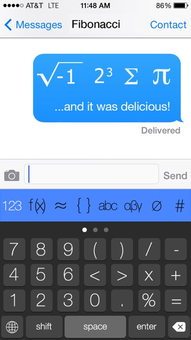 The Math Keyboard Screenshots