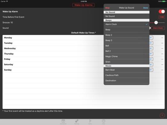 Screenshots for Calarm