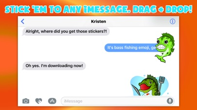 Bass fishing emoji app report on mobile action for Bass fishing apps