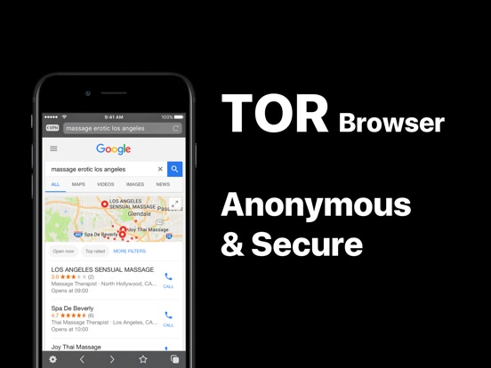 Screenshots of VPN Browser - TOR-powered free VPN for anonymous Internet browsing for iPad