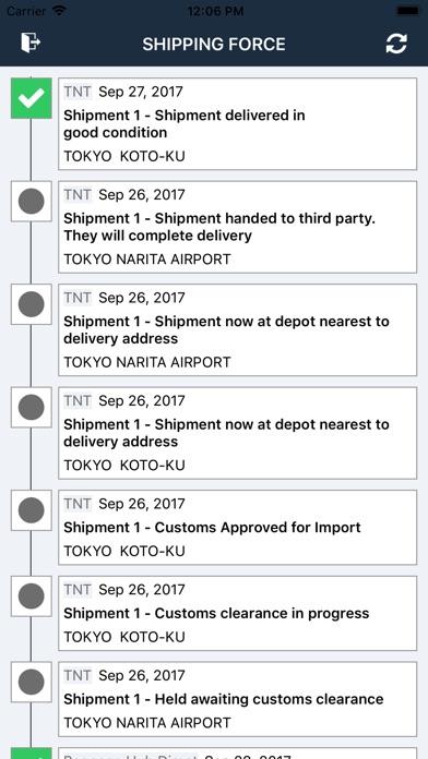 Shipping Force Tracking screenshot 1