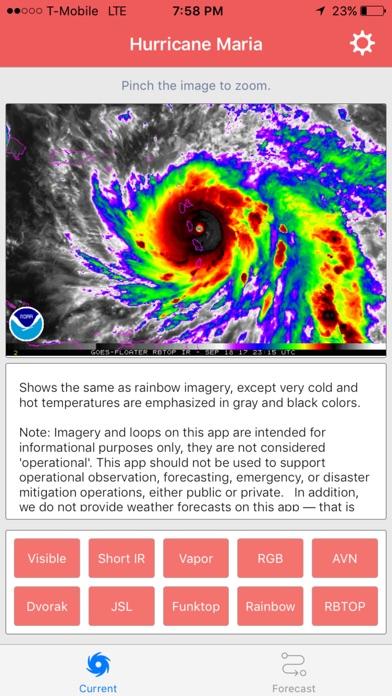 National Hurricane Center Data screenshot 1