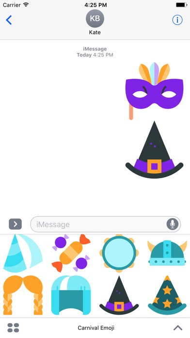 Carnival Emoji Stickers screenshot 1