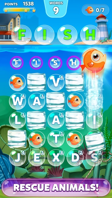 Bubble Words - Letter Splash Screenshot