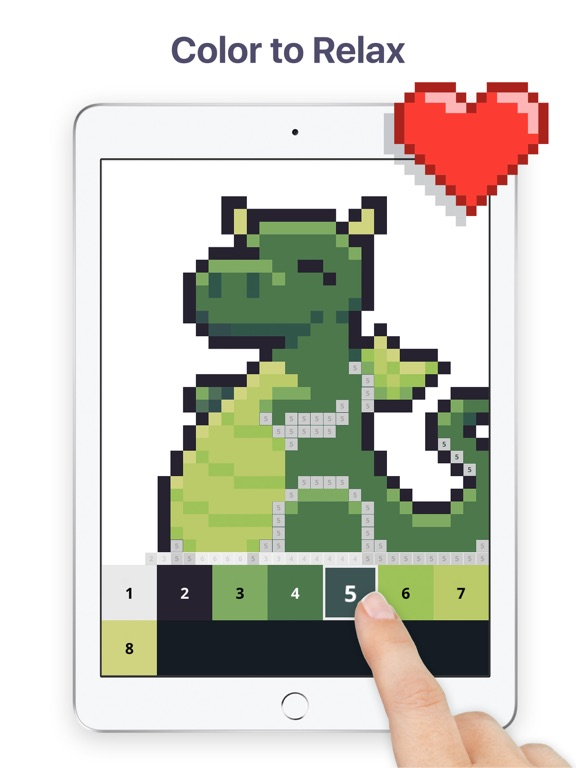 Screenshots of Pixel Art - Color by Number for iPad