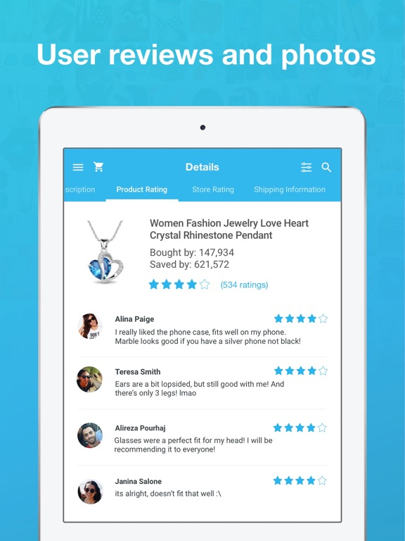 Image of Wish - Shopping Made Fun for iPad