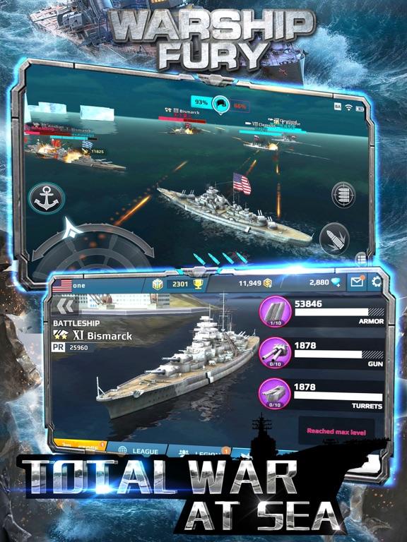 Warship Fury - World of Warships для iPad