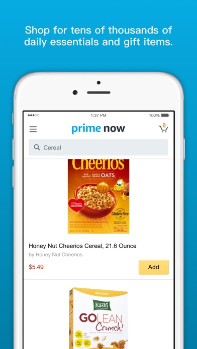 Amazon Prime Now Screenshot
